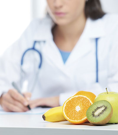 Doctor and fruit